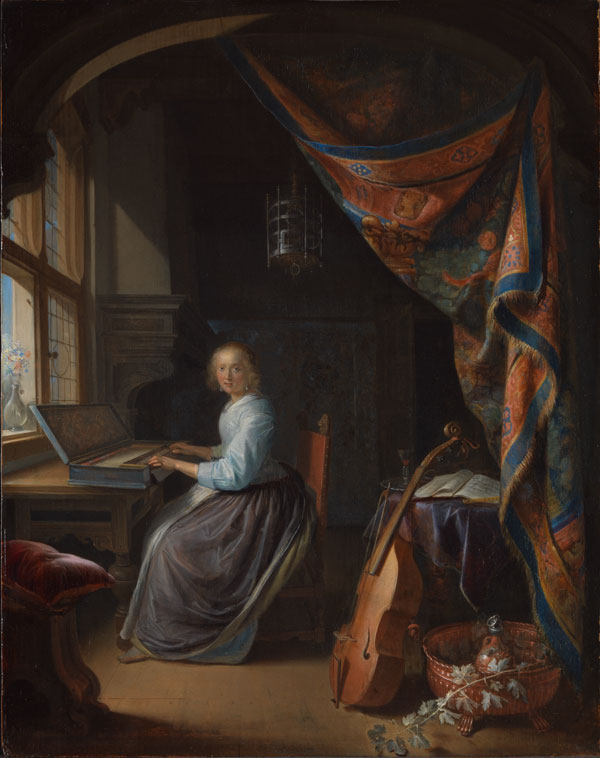 Image result for lady in harpsichord