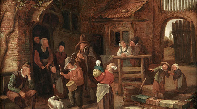 Jan Steen's The Wandering Musicians comes to Dulwich