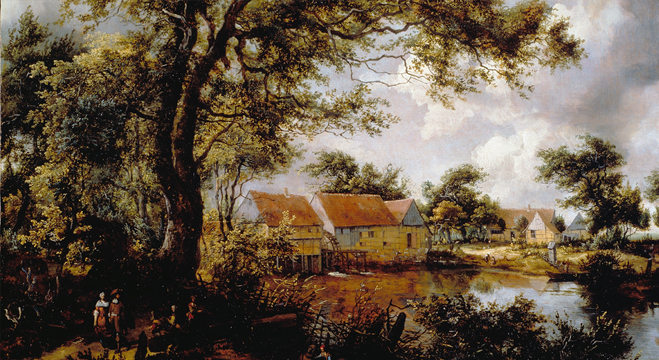 Picture Description Talk: Hobbema's Wooded Landscape with a Water-mill