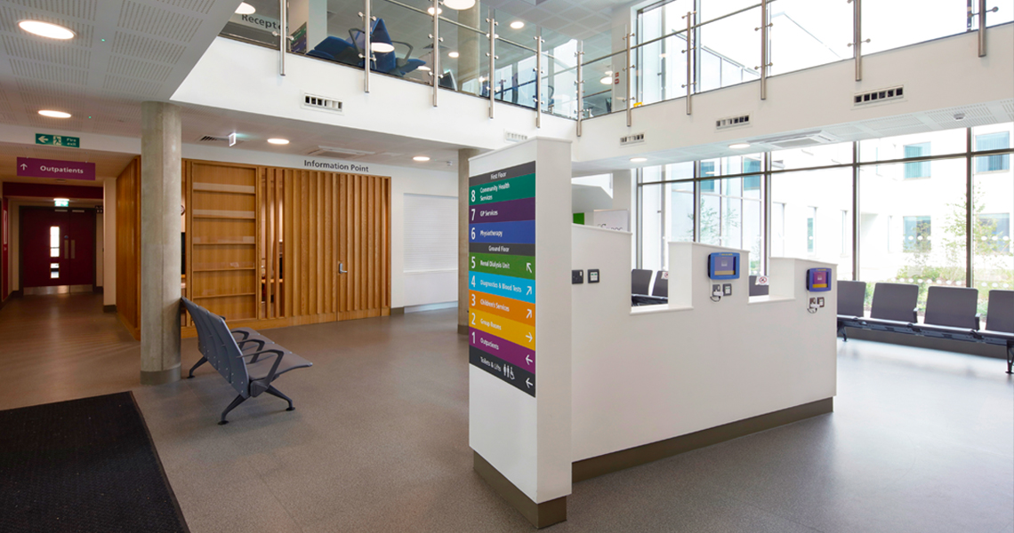 Tessa Jowell Health Centre's reception area