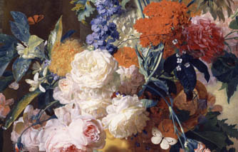 Van Huysum's 'impossible bouquets' in new display of masterpieces