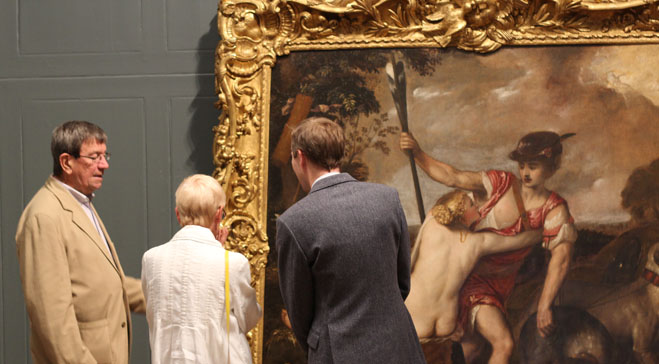 Newly restored Titian frame has 'the Midas touch'