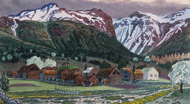 Dulwich presents first UK show dedicated to landscape painter and printmaker, Nikolai Astrup (1880-1928)