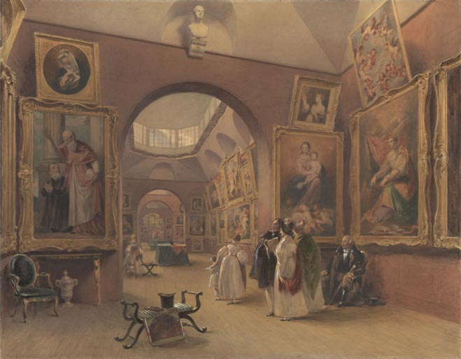 Watercolour reveals early view of the Gallery