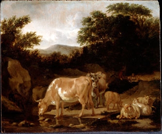 Cows and Sheep in a Wood