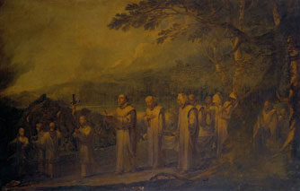 Funeral Procession of a White Friar