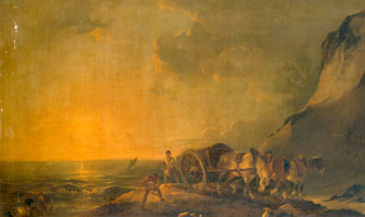 Sea Shore with Horse and Cart