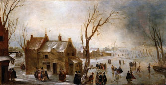 A Winter Scene on the Ice