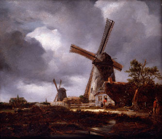 Landscape with Windmills near Haarlem, after Jacob van Ruisdael