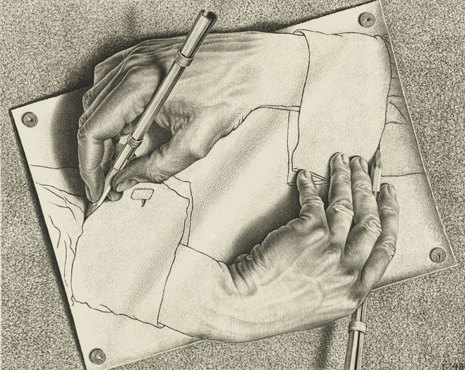 Escher _Drawing Hands 1948_web