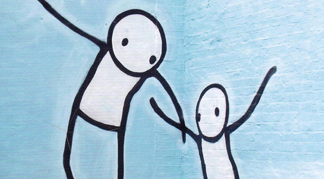 'The Guardian Angel' by Marcantonia reinterpreted by Stik