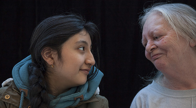 Newly-arrived migrant, refugee and asylum-seeking teenage girls collaborate with older women