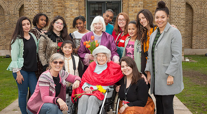 Volunteering with the Intergenerational Women's Photography Project