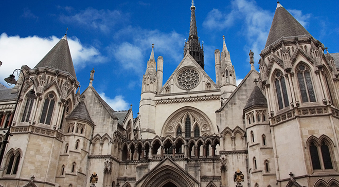 Royal Courts of Justice, Lincolns Inn and The Old Bailey
